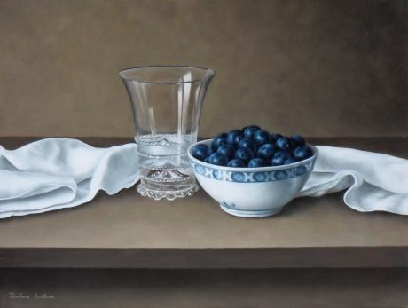 Barbara Vanhove - Blueberries in a bowl