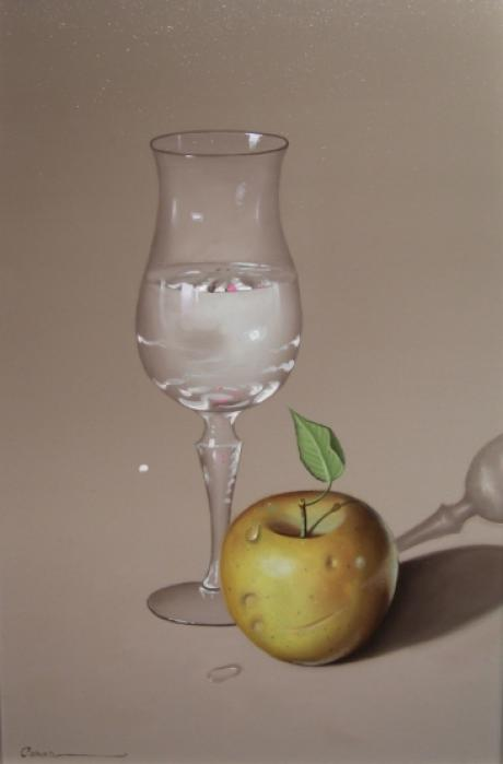 Casas - Glass with Apple