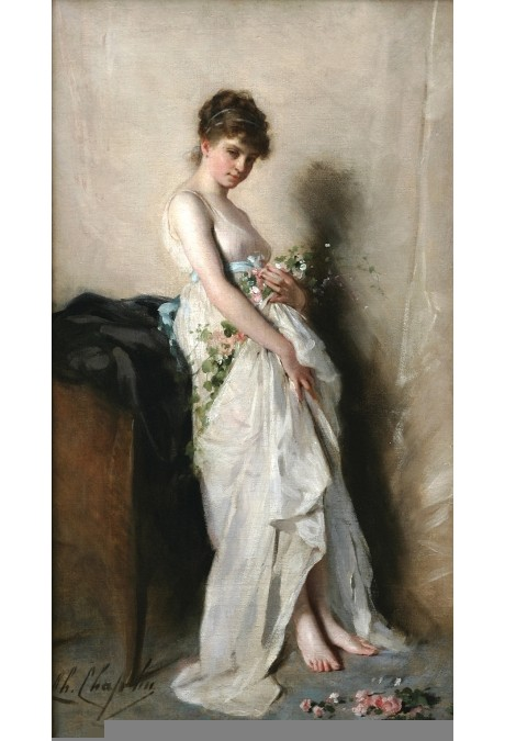 Charles Chaplin - Girl with Garland of Flowers