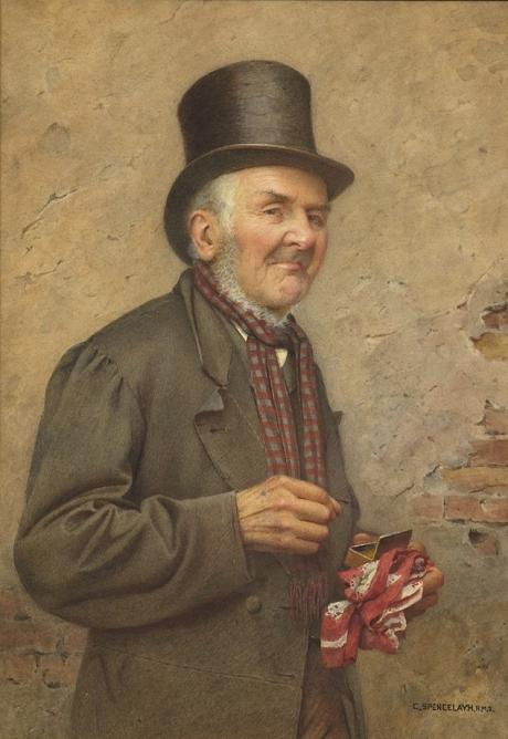 Charles Spencelayh - A Pinch of Snuff