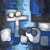 Claude Venard - Composition en Bleu