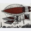 Claude Venard - No. 7 Red Biplane