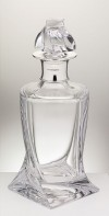 Contemporary Silver - Single Mounted Twisted Decanter