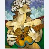 Geoffrey Key - Flower Girl with Guitar