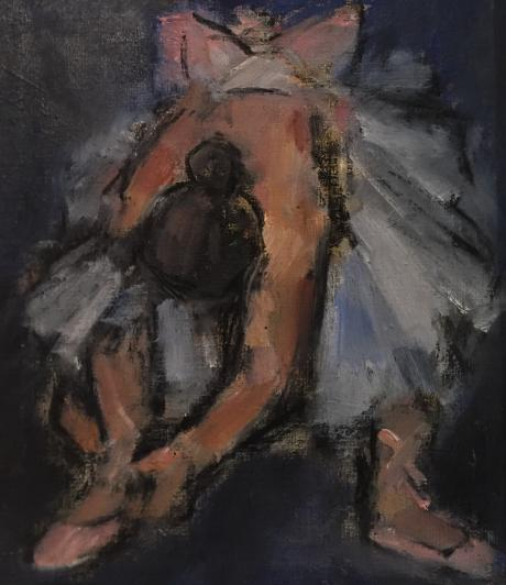 Ghislaine Howard - Dancer Tying her Shoe