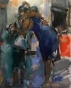 Ghislaine Howard - Embracing Manchester, Woman in a Blue Dress