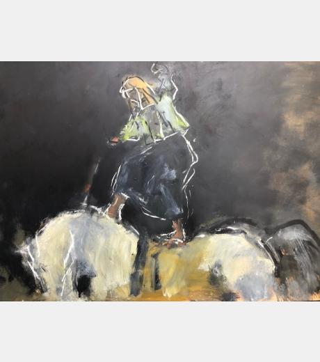 Ghislaine Howard - Self Portrait on a Horse