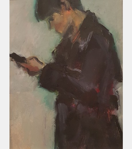 Ghislaine Howard - Young Man on a Mobile