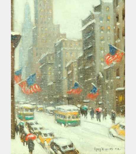Guy Carleton Wiggins - Looking Down 5th Avenue