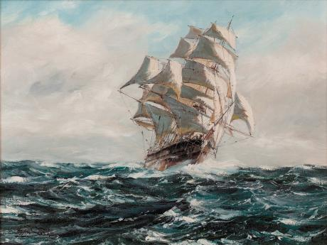 Henry Scott - Turning Clipper in Choppy Waters