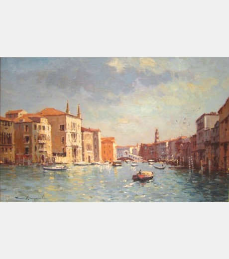 James Longueville - Towards the Rialto, the Grand Canal