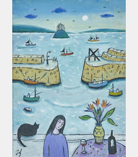 Joan Gilchrist - A Lovely Summer Day at Mousehole