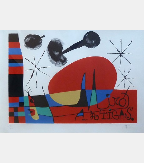 Joan Miro - The Land of Great Fire
