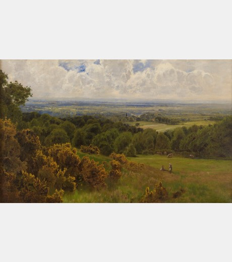John Clayton Adams - View from the Leith Hill, Surrey