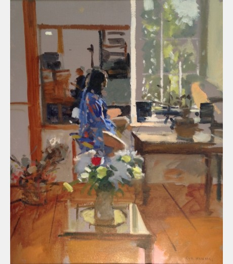 Ken Howard R.A. - Sarah in Blue