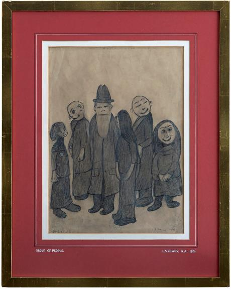 L S Lowry - A Group of People