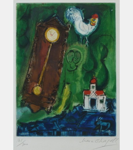 Marc Chagall - The Rooster and the Clock