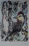 Marc Chagall - The Rooster and the Family