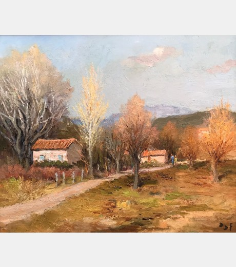Marcel Dyf - Afternoon Stroll