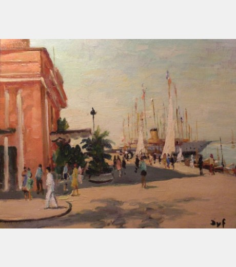 Marcel Dyf - Cannes, Harbour