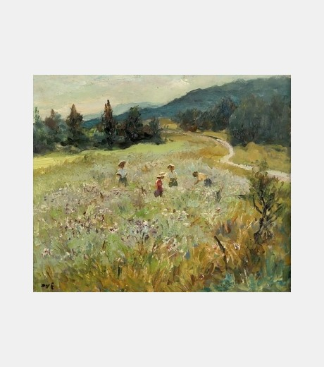 Marcel Dyf - Collecting Wild Flowers