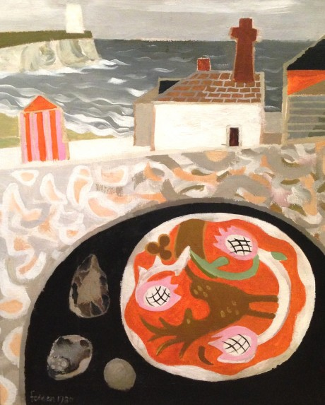 Mary Fedden - Coastal Hamlet with Mussels and Bowl