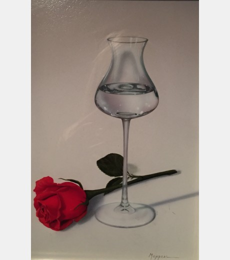 Monreal - Glass and Single Rose