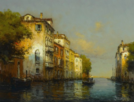 Noel Georges Bouvard - Venetian Backwater