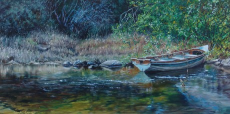 Sarah Corner - Moored Under the Willows