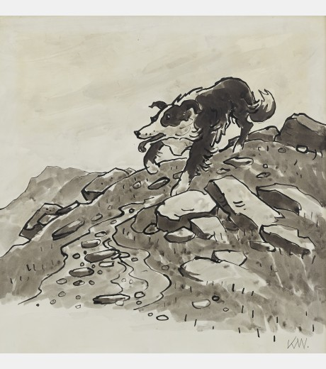 Sir Kyffin Williams - Sheep Dog